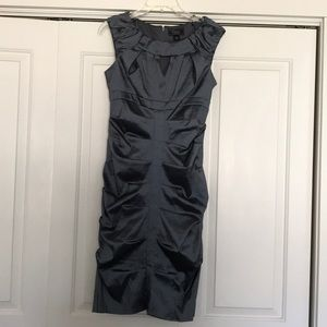 Shimmering dark silvery gray dress